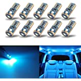 iBrightstar Newest Extremely Bright Wedge T10 168 194 LED Bulbs For Car Interior Dome Map Door Courtesy License Plate…