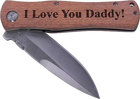 Amazon.com: ¡Te quiero papá! Navaja plegable de bolsillo ...