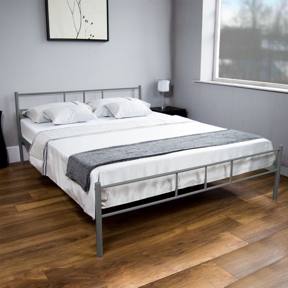 Dorset UK King-Size Bett, ca. 150 x 200 cm, Silber von Vida Designs ...