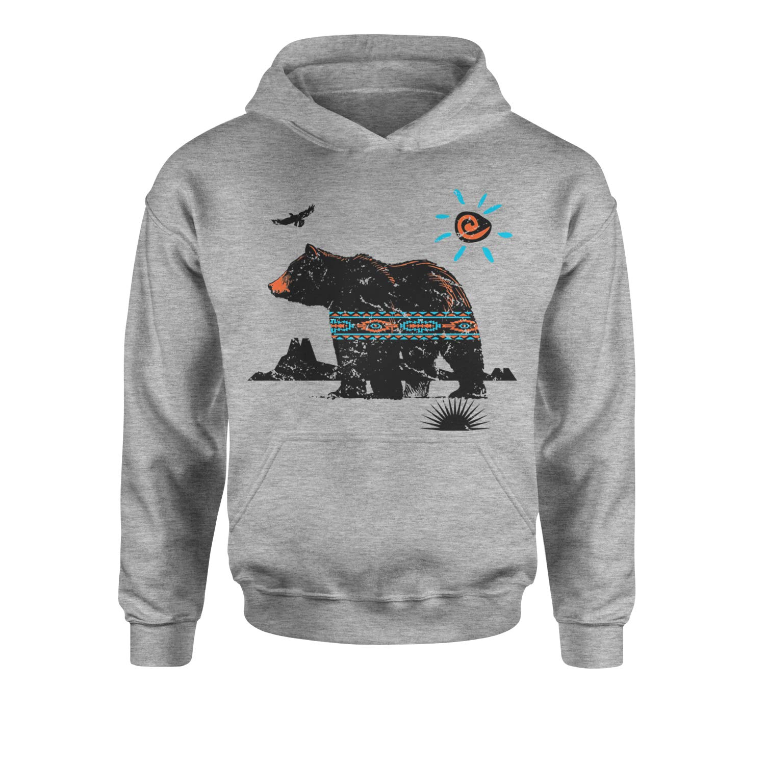 Expression Tees Native American Bear Southwest Youth-Sized Hoodie