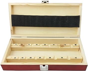Caja de madera vacíos para 15 Forstner Broca de Agujero Broca 10 – 50 mm Caja de madera caja de madera: Amazon.es: Bricolaje y herramientas