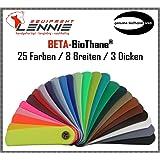 BioThane®®®® Beta Meterware/ca. 2,5 mm Dick (Standard)/Verschiedene Breiten/25 Farben