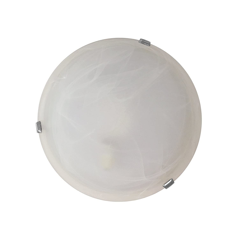 Diametro 30cm Bianco Plafoniera Vetro ONLI Duna