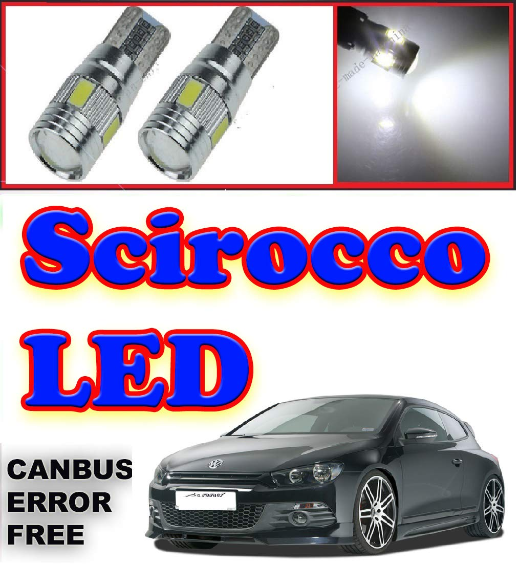 VW Scirocco Xenon Ice White DEL Side Light Bulbs Canbus Error Free