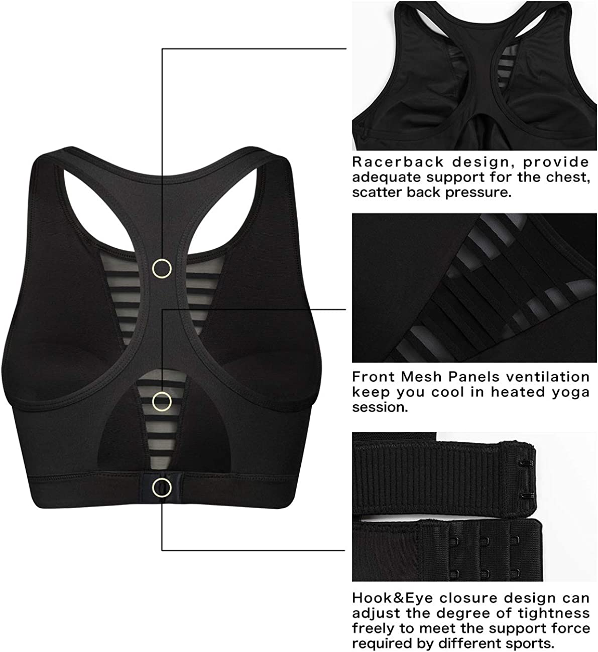 Yvette Sports Bra Crop Top High Neck for Providing Ample Coverage and Supportive