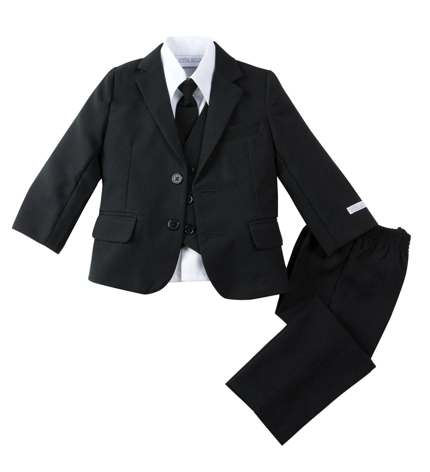 Spring Notion Baby Boys' Modern Fit Dress Suit Set Medium/6-12M Black by Spring Notion