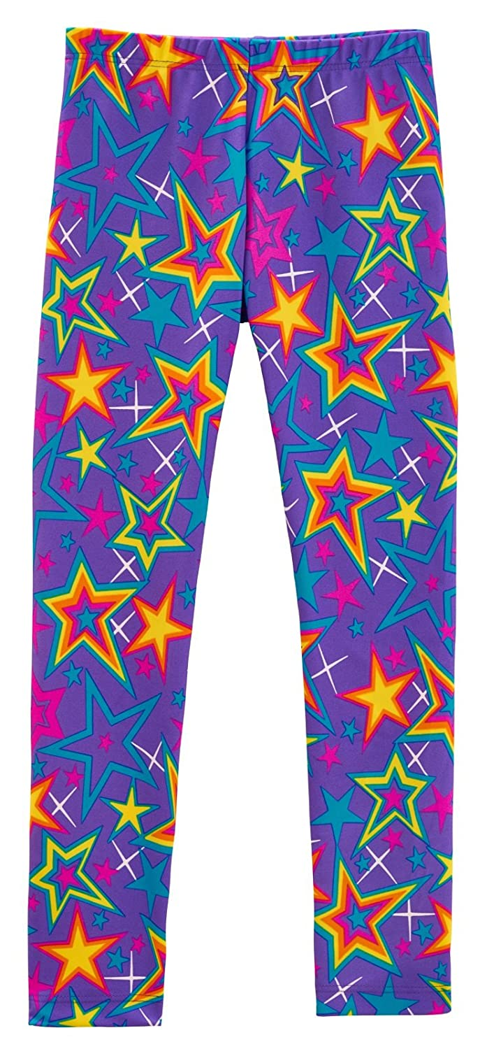 City Threads Girls Leggings Metallic Mermaid Print Shiny Colorful Fun Ankle Length Made in USA CT-NOVELTYLEGGINGS