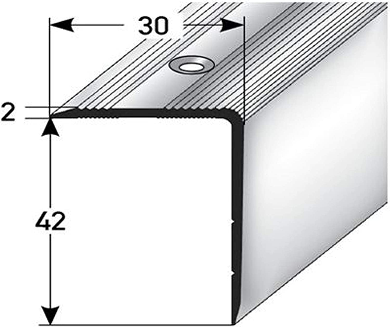 Profil dar/ête descalier 42x30mm acerto 38074 Profil dangle descalier en aluminium bronze clair * Antid/érapant * Robuste * Montage facile profil de marche en aluminium 100cm