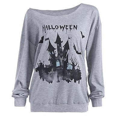 OverDose mujer De Calabaza De Halloween Casa Embrujada De LiquidacióN Sudadera Jersey De Horror Tops Camisa De La Blusa: Amazon.es: Ropa y accesorios