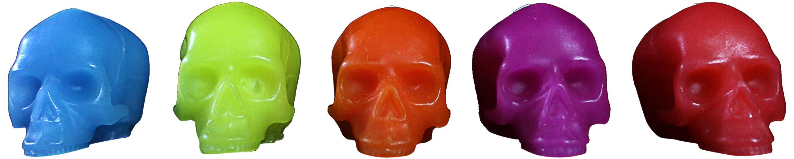 D.L. Bright Skull Candles Gift, Mini, Set of 5