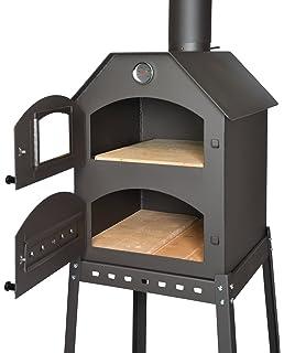 BURNHARD Horno para Pizzas Exterior de Acero Inoxidable Nero ...