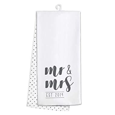 Swig Life 100% Cotton Kitchen and Bar Towel - Mr. & Mrs. Est 2019