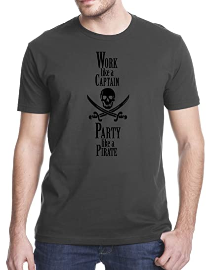 Amazon.com: Gbond Apparel Work Like a Captain Party Like a Pirate T-Shirt: Clothing