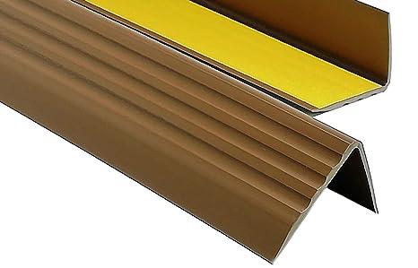 1,10m PVC Treppenkantenprofil Antirutsch-Profil Winkelprofil Selbstklebend Treppenkantenschutz 50x40mm
