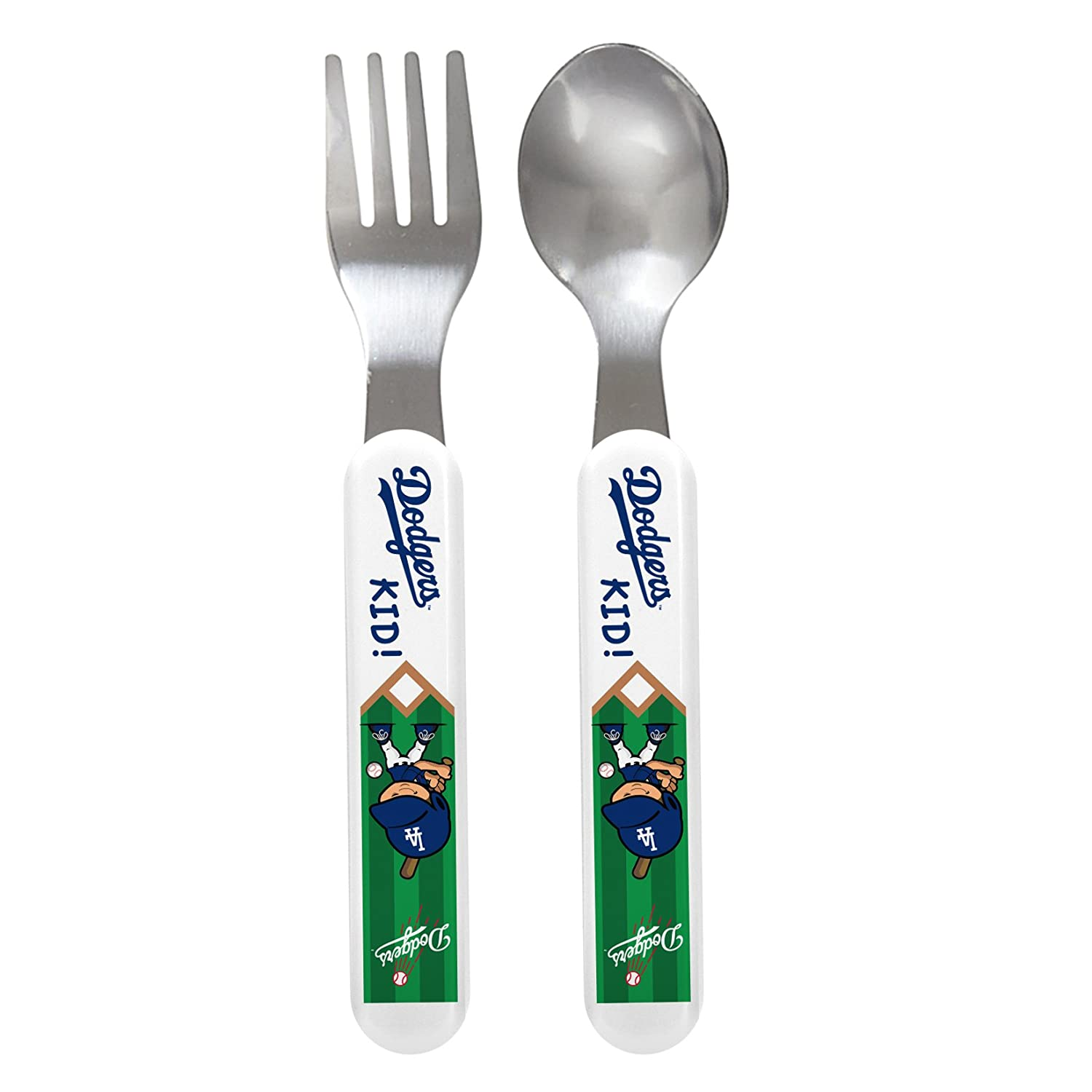 【希望者のみラッピング無料】 Baby Fanatic Fork Angeles and Spoon Set, Los Los Angeles Set, Dodgers by Baby Fanatic B001QGVVOG, 電材堂:04c3f607 --- a0267596.xsph.ru