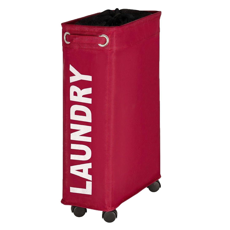 WENKO 3450113100 Laundry Bin Corno Beige, Capacity 11.36 gallon, Polyester, 7.3X 23.6X 15.7 7.3X 23.6X 15.7