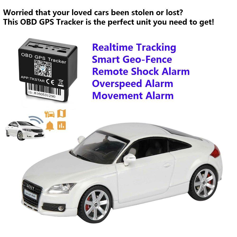 Localizador Tracker GPS GSM GPRS para Vehículos Coche Moto Control Remoto Localizador GPS para Coche OBD2 GPS Coches Localizador Rastreador GPS Coche