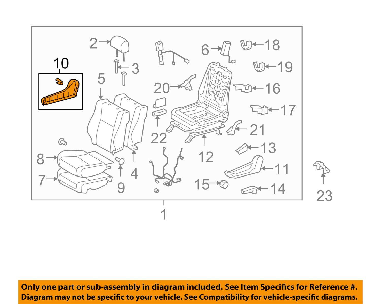 TOYOTA Genuine 71862-0C080-E0 Seat Cushion Shield