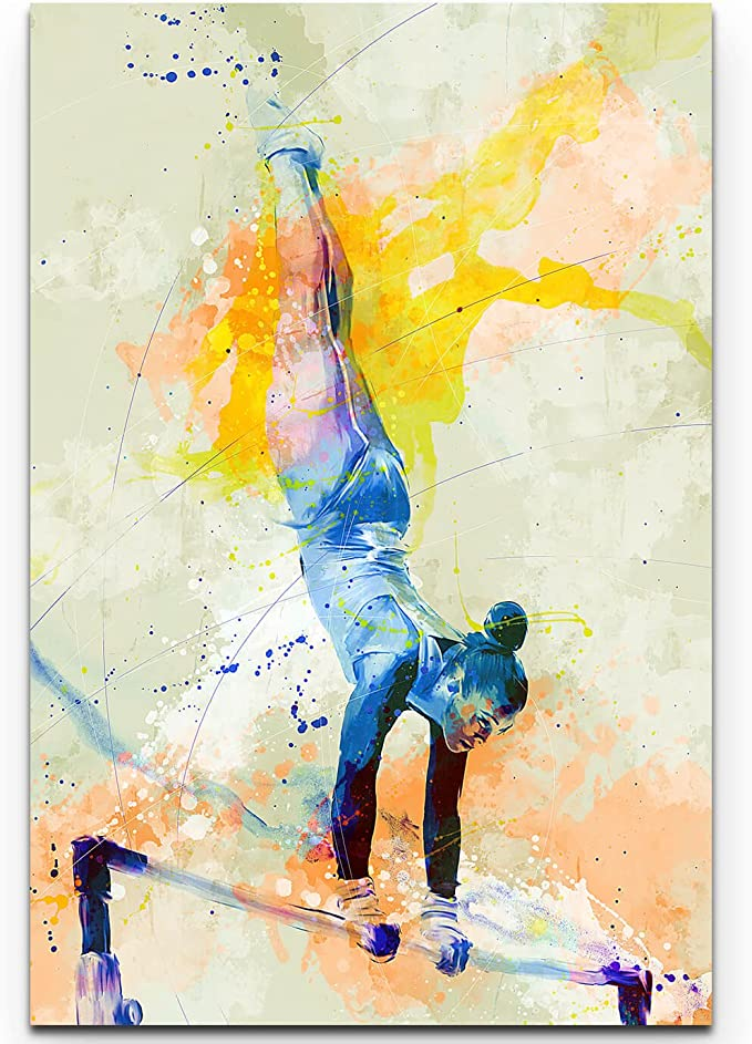 Paul Sinus Art Tanzpaar III 90x60cm auf Leinwand gespannt fertig zum aufh/ängen