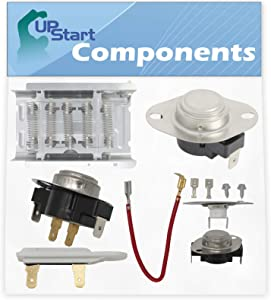 279838, 279816, 3392519, 3390291 & 3387134 Dryer Heating Element & Thermostat Combo Pack Replacement for Whirlpool LEN3634DW1 Dryer - Compatible Heater Element & Thermostat Kit
