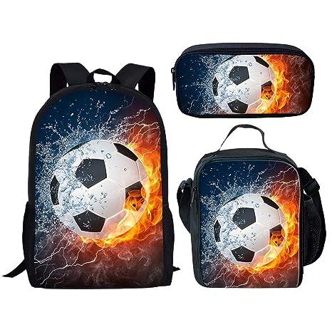 Mochilas infantiles 3D Imprimió Buen fútbol Confort ...