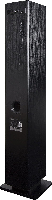 Prestige Audio pr-towercdbk Torre Audio con Reproductor CD Bluetooth para Smartphone/PC portátil Negro