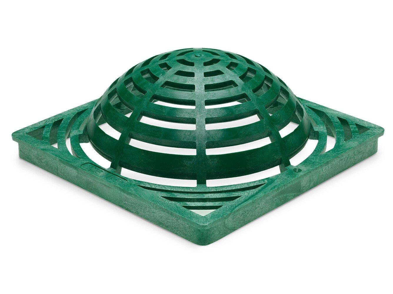 Rainbird Plastic Square Atrium Grate, Green, 9''