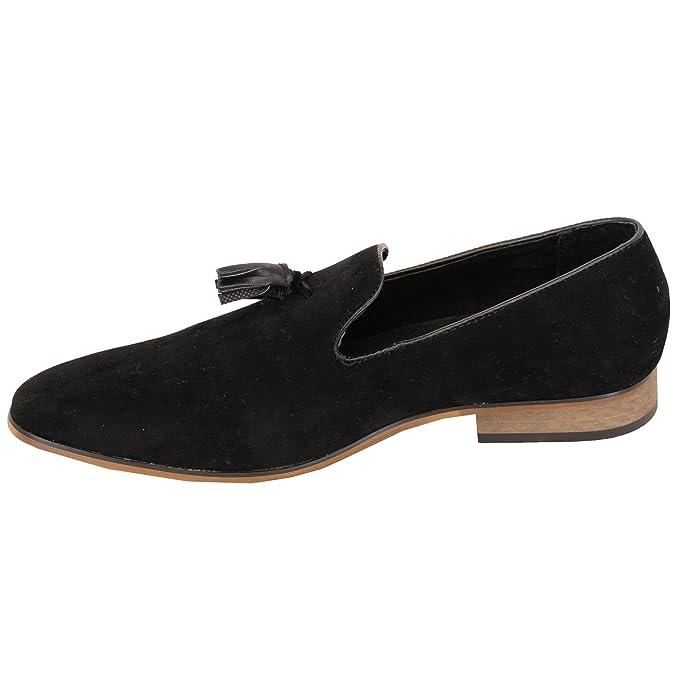 Hommes Mocassins Cuir Suédé Look Chaussures Bateau À Enfiler Italian Gland  Habillé Mode Neuve: Amazon.fr: Chaussures et Sacs