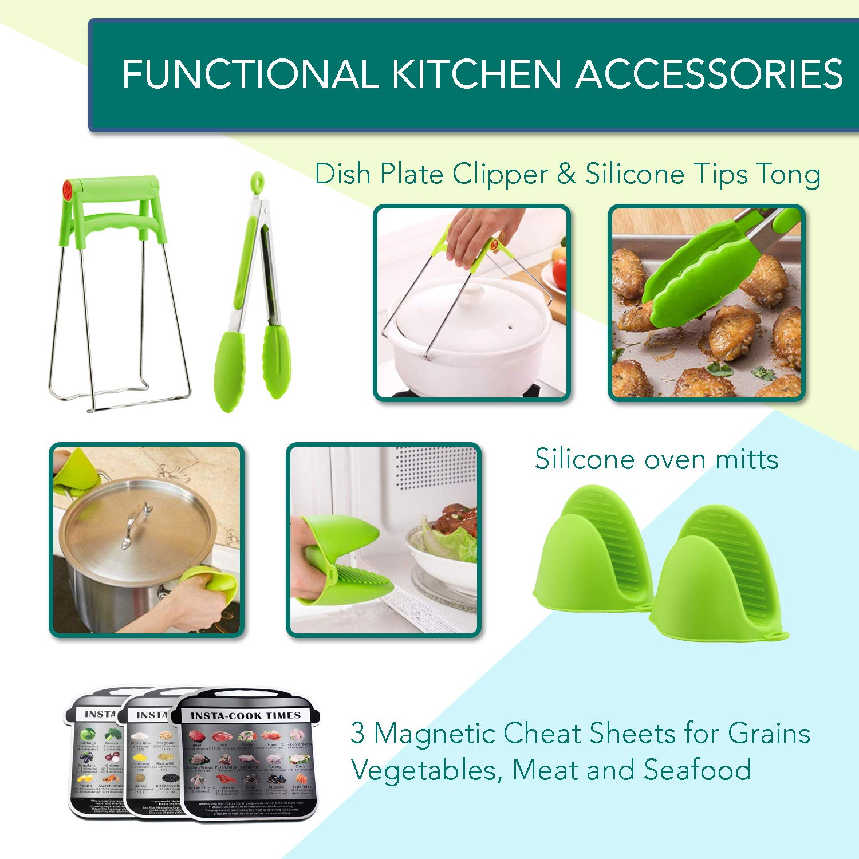 Instant Pot Accessories Set by LeafLife | Compatible with 5,6,8 Qt Instapot- Steamer Baskets, Springform Pan, Egg Bites Mold & More (BONUS RECIPES) by LeafLife (Image #5)