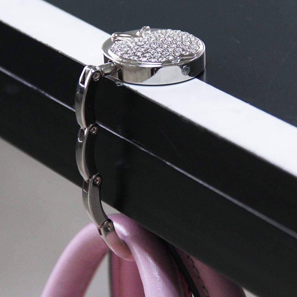 Romote plegable del gancho del monedero del bolso de colgar titular Tabla Negro