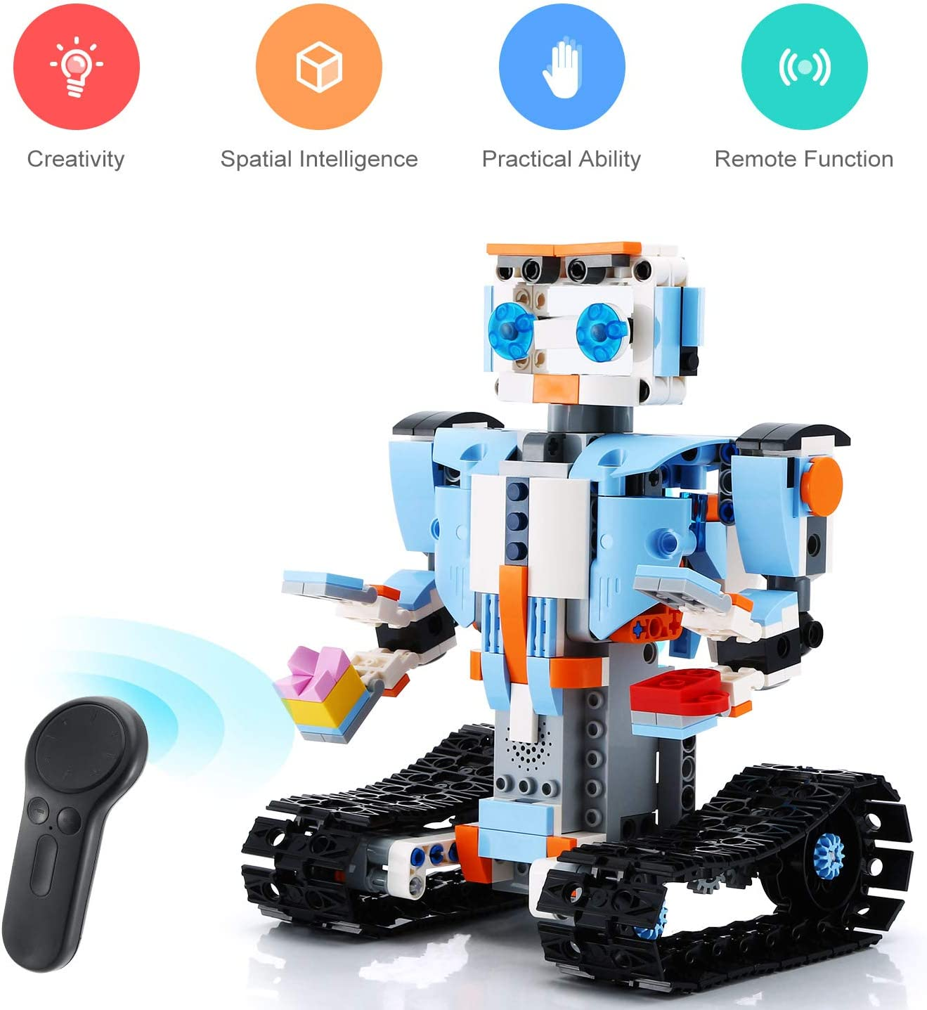 2 In 1 Building Block Robot Firemen Toy W Remote Control Engineering Science Edu