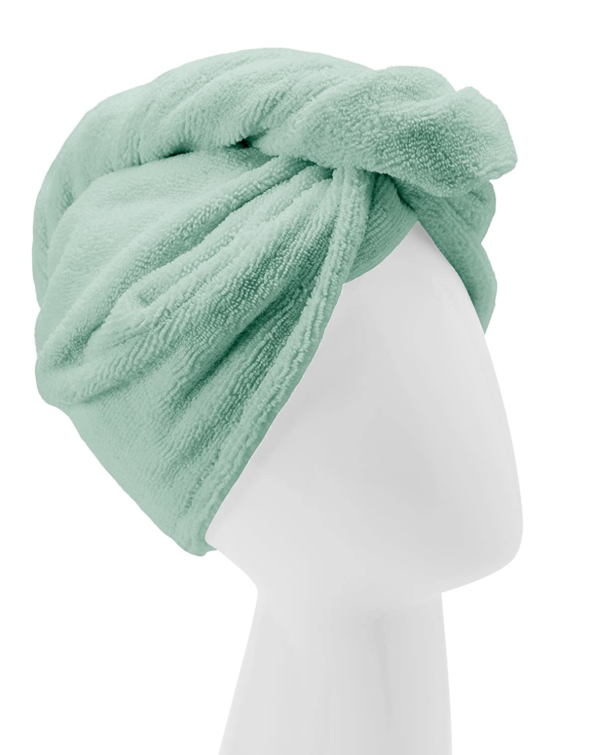 Turbie Twist Microfiber Hair Towel Wrap [Single Pack] – The Original Microfiber Hair Wrap As Seen On TV! Available in Pink, Blue, Purple and Aqua Hair Turban Towel Wraps (Aqua)