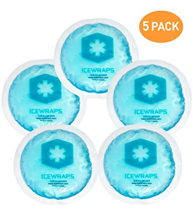 round reusable gel ice packs with cloth backing u2013 great for wisdom teeth - Reusable Ice Packs