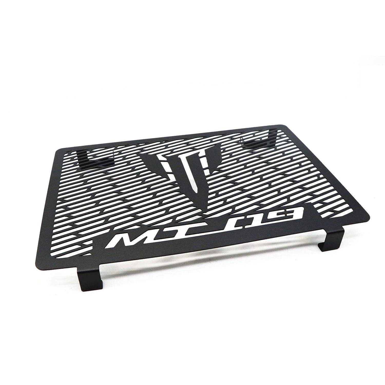 Metermall Rejilla del radiador Cubierta de radiador de protecci/ón de radiador de Motocicleta de Acero Inoxidable para Yamaha MT-09 MT09 14-17 Negro