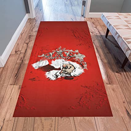 Christmas Runner Rugs.Annhomeart Christmas Time Santa Claus Area Rug Modern Carpet Runner Rug 7 X3 3
