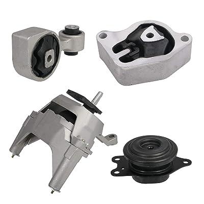 4pcs Set Motor Mounts Kit Compatible with 2007-2012 Nissan Altima 2.5L 4Cylinder - Automatic CVT Auto Transmission Trans (2008 2009 2010 2011) - Torque Strut Rear Front Right Engine Mounts: Automotive