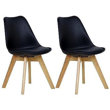 woltu 2 chaises de salle manger cuisinesalon chaisesdesign en similicuir et - Chaises Design Salle A Manger