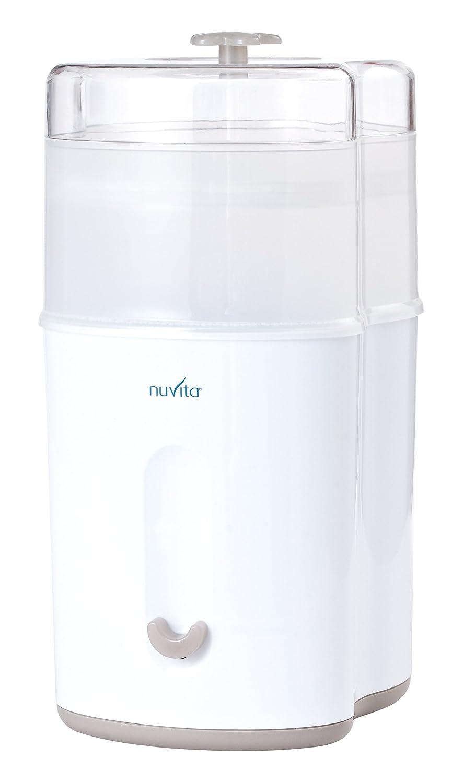 Nuvita 1082 Stericompact – Kompakter Elektrischer Dampfsterilisator – Desinfiziert bis zu 5 Babyflaschen, Zubehör und Schnuller - Energiesparender und Umweltfreundlicher Sterilisator - EU Marke NU-ALST0005