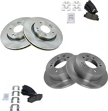 Front /& Rear Posi Ceramic Disc Brake Pads /& Rotor Kit Set for Hyundai Elantra