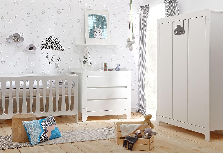 Babyzimmer Kinderzimmer Nicea Weiss Mdf Komplettset B Bett Schrank