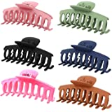 2021 New Version AMYFARR 6 Pcs Large Hair Claw Clips for Thick Hair ,Big Matte Banana Claws Clamp, Butterfly Giant Styling Ha