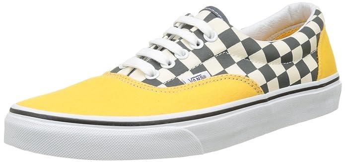 Vans Era Sneakers Herren Grau-Weiß Kariert/Gelb