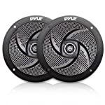 Pyle Marine Speakers - 5.25 Inch Low Profile Slim Style Waterproof Wakeboard Tower and Weather Resistant Outdoor Audio...