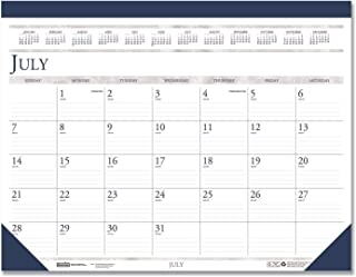 product image for House of Doolittle Academic Desk Pad Calendar July 2013 to August 2014, 18.52 x 13 Inches Leatherette Top Strip and Matching Corners Recycled Materials (HOD1556)