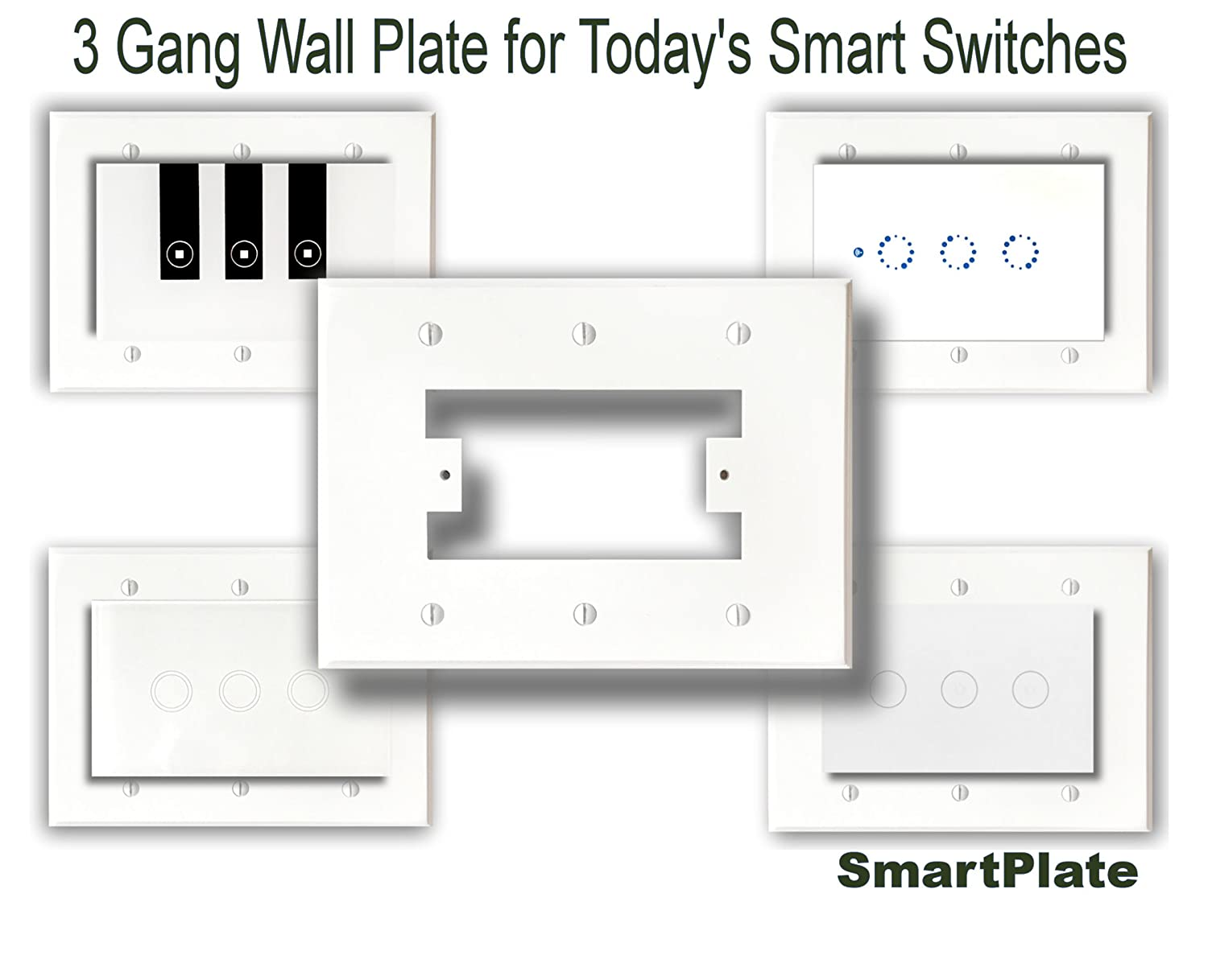 Smartplate Wall Plate Switch Plate For Smart Switches 3 Gang