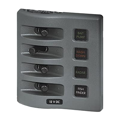 Blue Sea 4304 WeatherDeck Water Resistant Fuse Panel - 4 Position - Grey by Blue Sea Systems