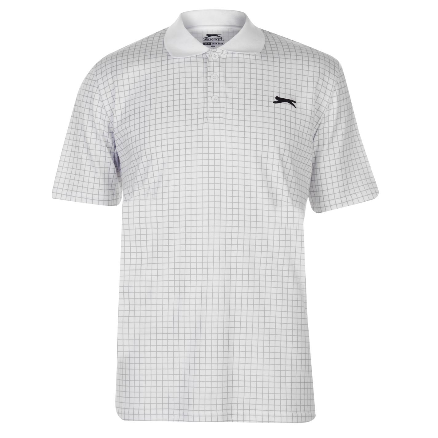 Slazenger Hombre Check Golf Camiseta Polo Manga Corta: Amazon.es ...