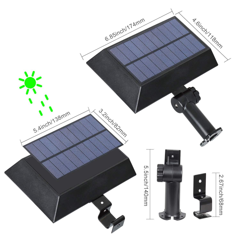 [1 Pack] Solar Gutter Lights, 30 LED PIR Motion Sensor Solar Lights, T-SUNRISE Waterproof Security Lamp for Outside Garage Door,Wall,Stairs Anywhere Safety Lite with Bracket (6000K-Black) by T-SUNRISE (Image #4)