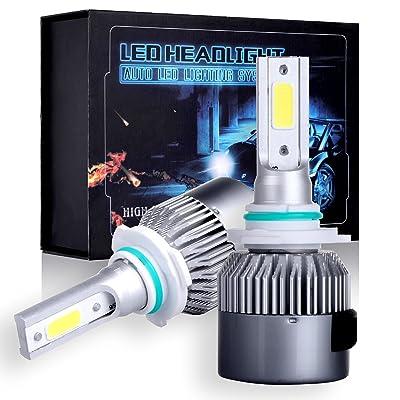 cciyu CREE Combo Set LED Headlight Kit 9005/HB3 Bulbs, Super Bright 80W, 6500K, 7200LM High Low Beam Headlamp - 1 Year Warranty: Automotive