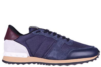 222524a028764 VALENTINO GARAVANI Men's Shoes Suede Trainers Sneakers blu UK Size 10  KY0S0723 TCV H07